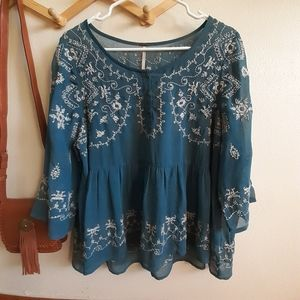 Free People sheer blouse